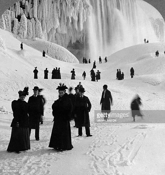 Niagara falls biggest icing of the falls 18951896
