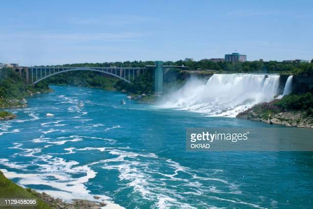 niagara falls looking into buffalo new york - niagara falls stock pictures, royalty-free photos & images