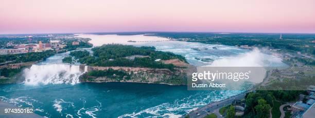 niagara falls panorama - dustin abbott imagens e fotografias de stock