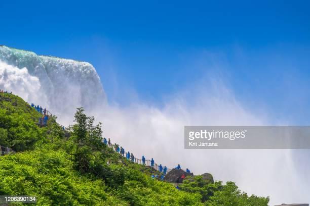 niagara falls - horseshoe falls niagara falls stock pictures, royalty-free photos & images