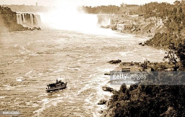 Niagara Falls Tourist Boat Vintage Photograph