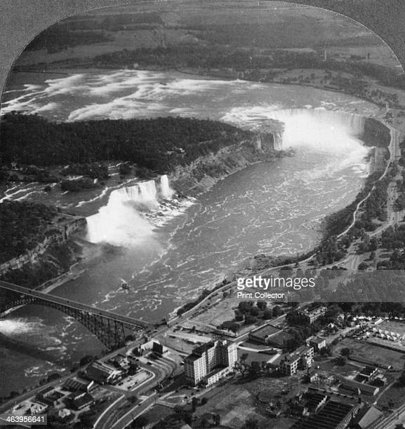 Niagara falls USA c1900s 'From our position we do not see the American rapids but just a short section of the river before it descends to form the...