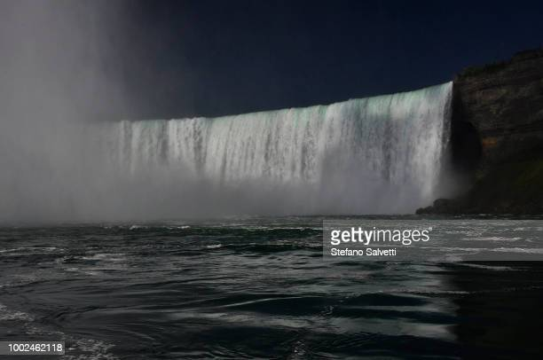 USA, NY, Niagara falls USA side from touristic boat