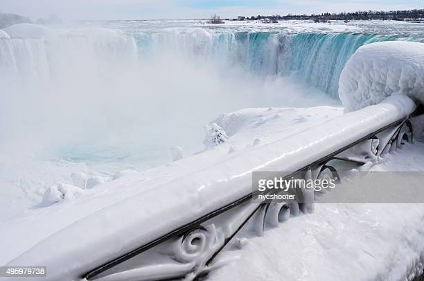 niagara falls winter 2015 - niagara falls stock pictures, royalty-free photos & images