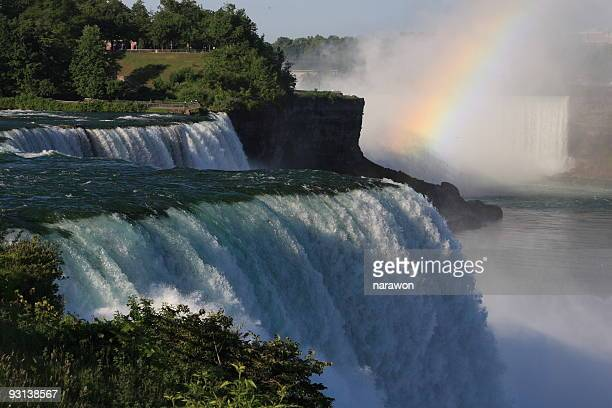 Niagara Horse Shoe Water Falls with Rainbow