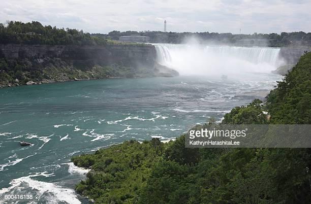 Niagara River and Horsehoe Falls, Ontario, Canada in Summer