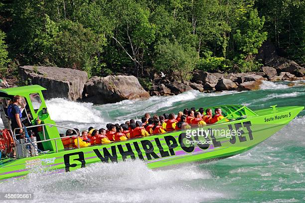 niagara whirlpool jet ride - niagara river stock pictures, royalty-free photos & images