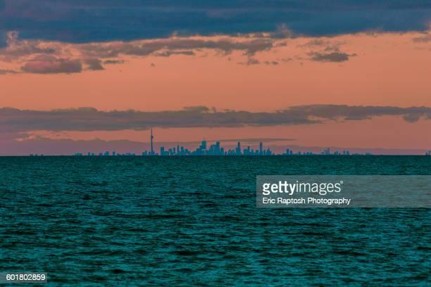 Niagara-on-the-Lake skyline and sunset sky, Ontario, Canada
