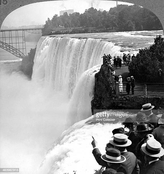 Niagra Falls from Goat Island New York USA Stereoscopic card detail