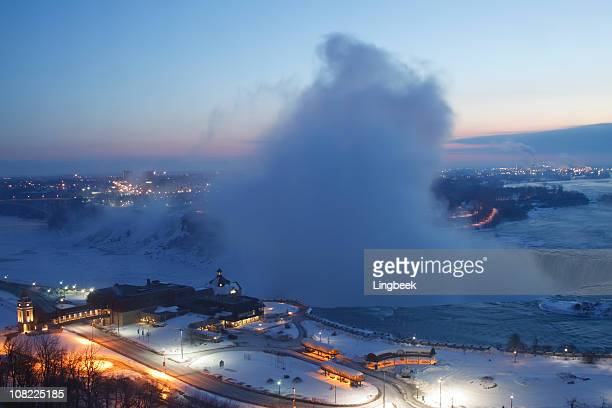 Niagra Falls from Hill in Winter