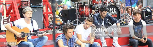 Nial Horan Harry Styles Liam Payne Zayn Malik and Louis Tomlinson of One Direction perform on NBC's Today at Rockefeller Center on August 23 2013 in...