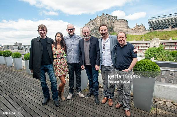 Niall Greig Fulton Hanna Standbridge Brian O'Malley Liam Cunningham Bryan Larkin and Jonathan Watson attend for 'Let us Prey' photocall at Apex...