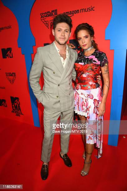 Niall Horan and Halsey attend the MTV EMAs 2019 at FIBES Conference and Exhibition Centre on November 03 2019 in Seville Spain