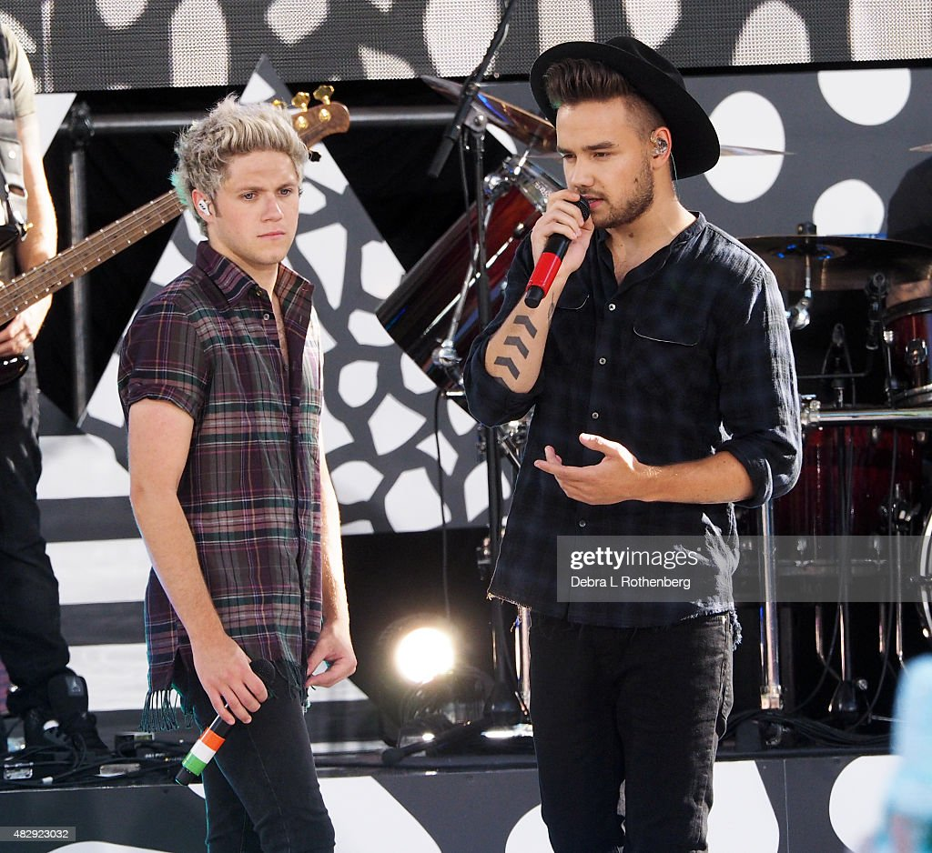 Niall Horan and Liam Payne of One Direction perform live on 'Good MorningAmerica's' Summer Concert Series at Rumsey Playfield, Central Park on August 4, 2015 in New York City.