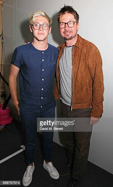 Niall Horan and Oliver Spencer attend the Oliver Spencer show during The London Collections Men SS17 at the BFC Show Space on June 10, 2016 in...