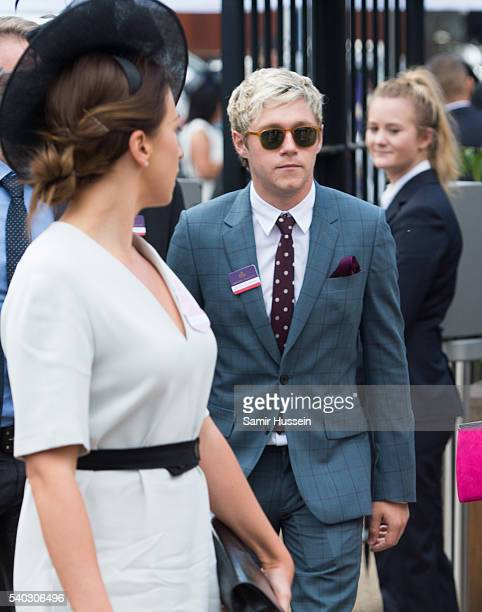 Niall Horan arrives for day 2 of Royal Ascot at Ascot Racecourse on June 8, 2016 in Ascot, England.