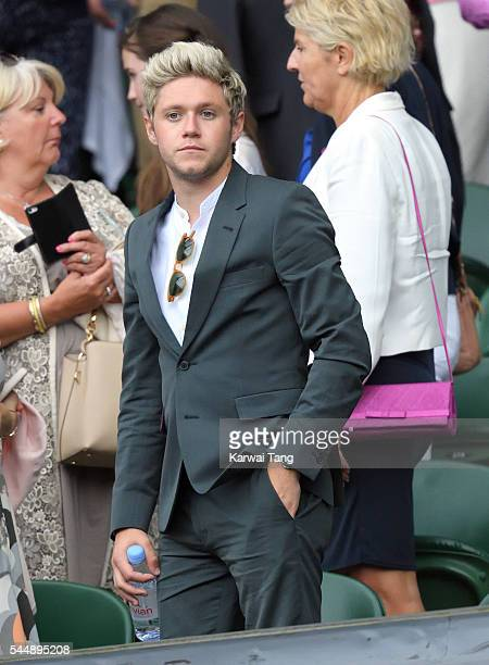 Niall Horan attends day eight of the Wimbledon Tennis Championships at Wimbledon on July 04 2016 in London England