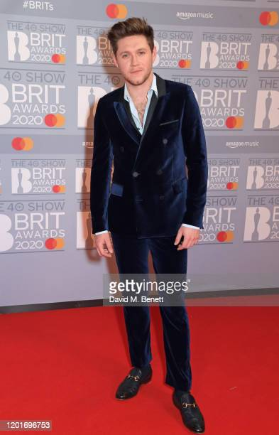 Niall Horan attends The BRIT Awards 2020 at The O2 Arena on February 18, 2020 in London, England.