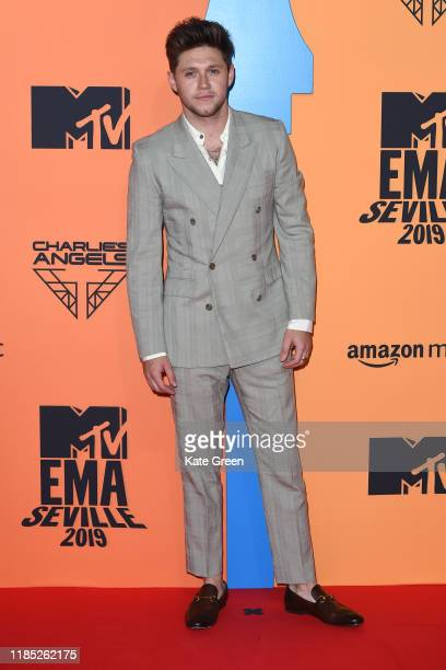 Niall Horan attends the MTV EMAs 2019 studio at FIBES Conference and Exhibition Centre on November 03 2019 in Seville Spain