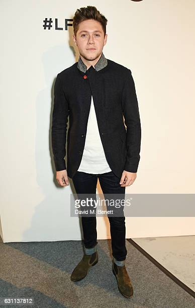 Niall Horan attends the Oliver Spencer AW17 Catwalk Show during London Fashion Week Men's January 2017 at the BFC Show Space on January 7 2017 in...