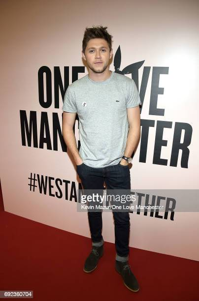 Niall Horan backstage during the One Love Manchester Benefit Concert at Old Trafford Cricket Ground on June 4 2017 in Manchester England