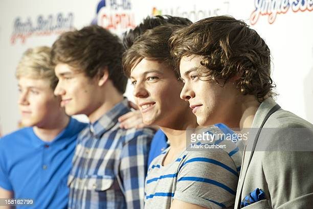 Niall Horan Harry Styles Liam Payne Zayne Malik And Louis Tomlinson Of One Direction Attend The Capital Radio Jingle Bell Ball At The O2 Arena In...