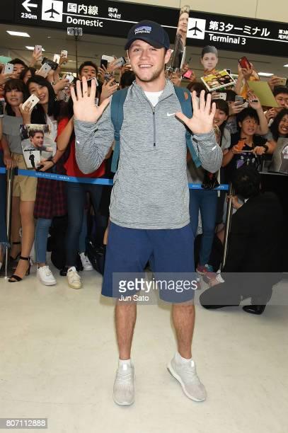 Niall Horan is seen upon arrival at Narita International Airport on July 4 2017 in Narita Japan