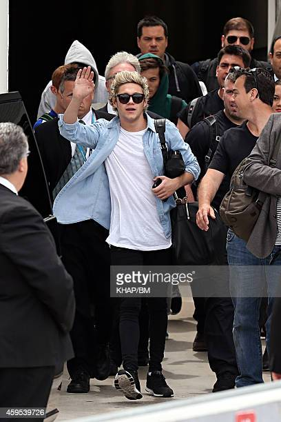 Niall Horan of One Direction arrives into Sydney on November 25 2014 in Sydney Australia