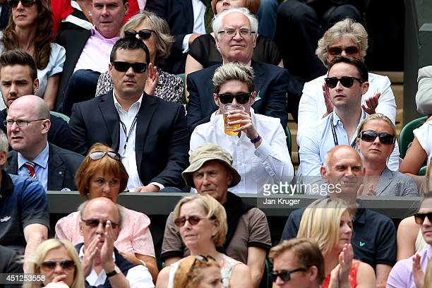 Niall Horan of One Direction attends Wimbledon on day four of the Wimbledon Lawn Tennis Championships at the All England Lawn Tennis and Croquet Club...