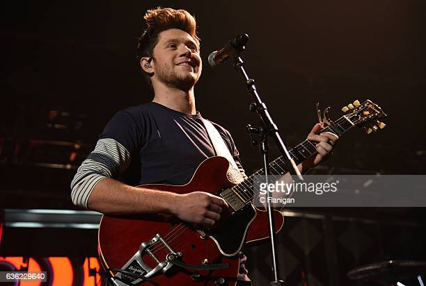 Niall Horan of One Direction performs onstage during 1035 KISS FM's Jingle Ball 2016 at Allstate Arena on December 14 2016 in Chicago Illinois