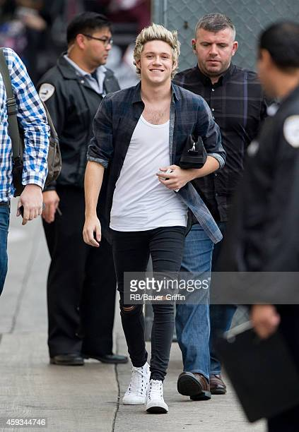 Niall Horan of the band 'One Direction' is seen at 'Jimmy Kimmel Live' on November 20 2014 in Los Angeles California
