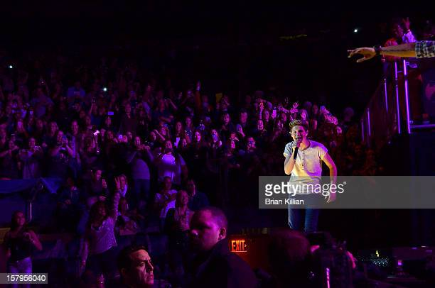 Niall Horan of the group One Direction performs onstage during Z100's Jingle Ball 2012 presented by Aeropostale at Madison Square Garden on December...