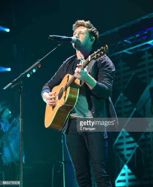 Niall Horan performs during the 2017 WiLD 949 FM iHeartRadio Jingle Ball at SAP Center on November 30 2017 in San Jose California