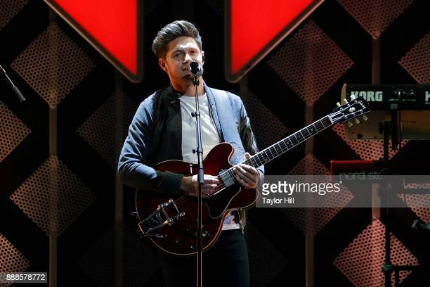Niall Horan performs during the 2017 Z100 Jingle Ball at Madison Square Garden on December 8 2017 in New York City