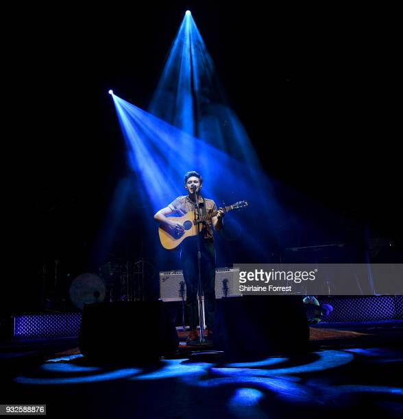 ONLY ** Niall Horan performs live on stage at O2 Apollo Manchester on March 15 2018 in Manchester England