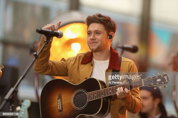 Niall Horan performs on NBC's 'Today' Show at Rockefeller Plaza on October 26 2017 in New York City