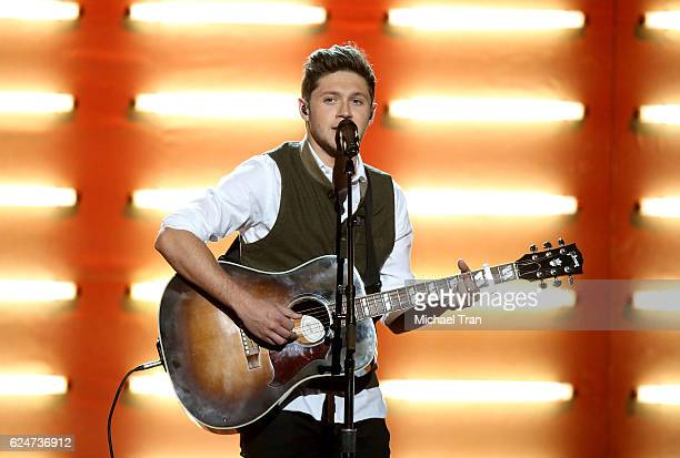 Niall Horan performs onstage during the 2016 American Music Awards held at Microsoft Theater on November 20 2016 in Los Angeles California
