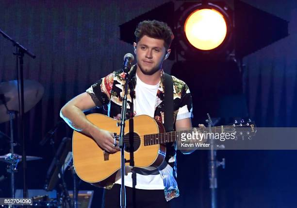 Niall Horan performs onstage during the 2017 iHeartRadio Music Festival at TMobile Arena on September 23 2017 in Las Vegas Nevada