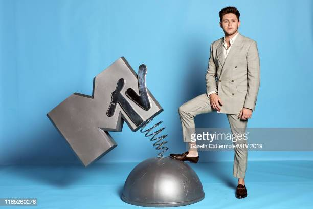 Niall Horan poses at the MTV EMAs 2019 studio at FIBES Conference and Exhibition Centre on November 03 2019 in Seville Spain