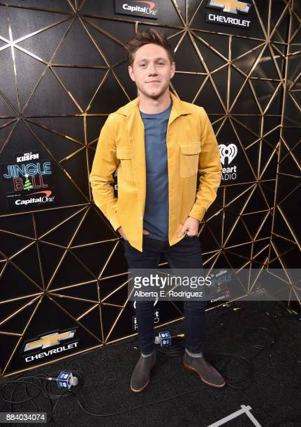 Niall Horan poses in the press room during 1027 KIIS FM's Jingle Ball 2017 presented by Capital One at The Forum on December 1 2017 in Inglewood...