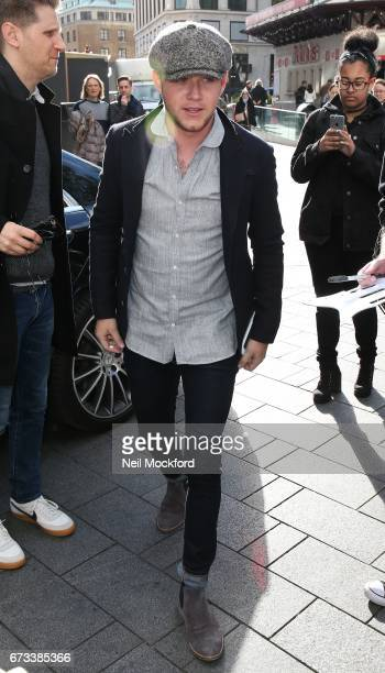 Niall Horan seen arriving at Capital Radio Studios on April 26 2017 in London England