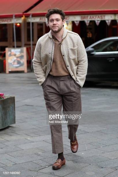 Niall Horan seen arriving at Global Radio Studios on January 22 2020 in London England