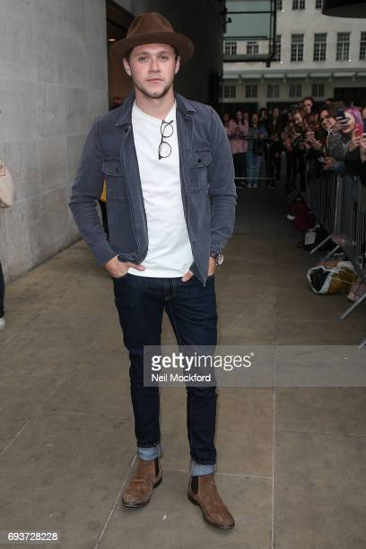 Niall Horan seen leaving BBC Radio One on June 8 2017 in London England