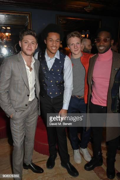 Niall Horan Skeku Kinneh Mason Patrick Gibson Tinie Tempah wearing Paul Smith attend the Paul Smith Malgosia Bela AW18 Lunch on January 21 2018 in...
