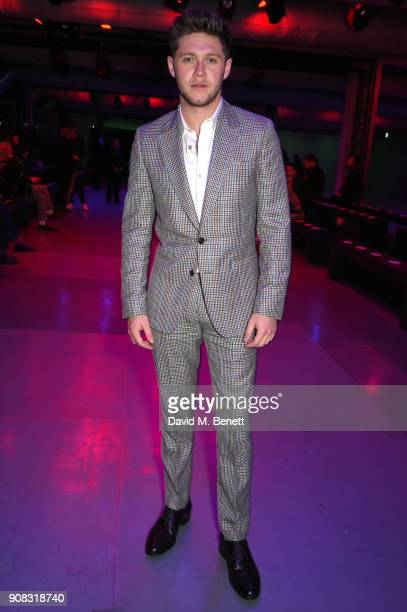 Niall Horan wearing Paul Smith attends the Paul Smith AW18 Men's and Women's Show on January 21 2018 in Paris France
