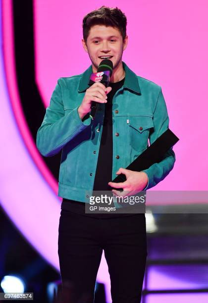 Niall Horan wins the award for Fan Fave International Artist or Group at the 2017 iHeartRADIO MuchMusic Video Awards at MuchMusic HQ on June 18 2017...