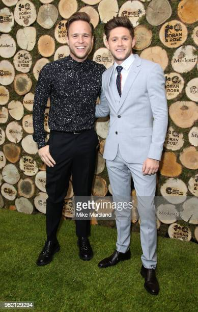 Niall Horans and Olly Murs attend the Horan And Rose Charity Event held at The Grove on June 23 2018 in Watford England