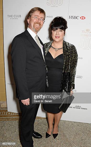 Niall Leonard and EL James attends Debrett's 500 party hosted at The Club at Cafe Royal on January 26 2015 in London England The Debrett's 500...