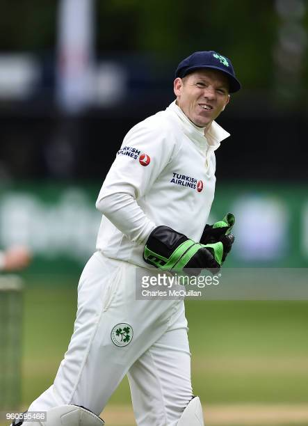 Niall O'Brien of Ireland during the fifth day of the international test cricket match between Ireland and Pakistan on May 15 2018 in Malahide Ireland