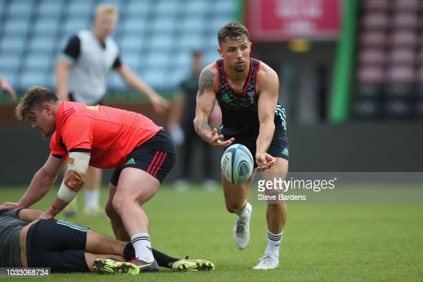 Niall Saunders of Harlequins in action during the captain's run at Twickenham Stoop on September 14 2018 in London England